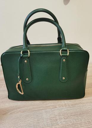 Вместительная сумка  lauren ralph lauren натуральная кожа