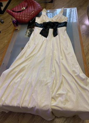Вечернее платье. слоновая кость, золото