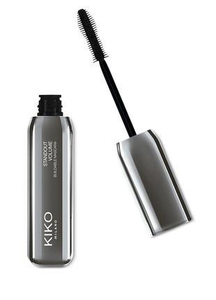 Тушь для объёма standout volume buildable mascara kiko milano