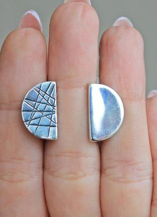 Серебряные серьги хартов 2850