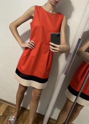 Красное платье хлопок
