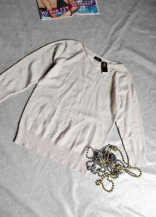 Новый кашемировый свитерок кремового цвета uk 12