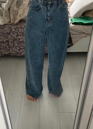 Широкие джинсы кюлоты высокая посадка zara