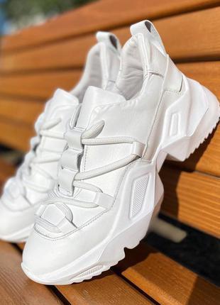🍦 очень удобные кроссовки женские кожаные белые
