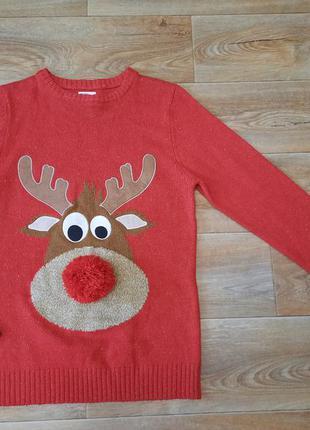 Новогодний свитер / джемпер на 14 лет