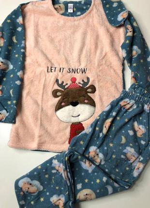 Якісна флісова піжама/тепла піжама/зимова піжама/флисовая теплая пижама