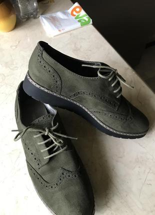 Трендовые женские туфли   оксфорды graceland