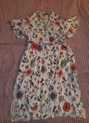 Огромные скидки❗❗❗❗платье-туника/рубашка от zara basic collection, размер л