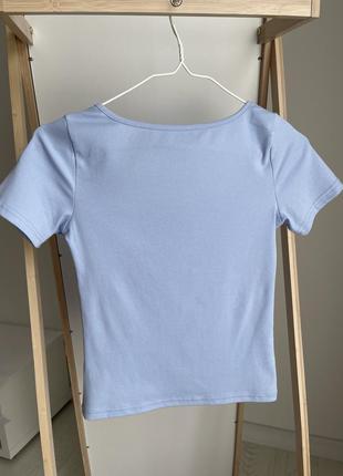 Новая футболка-топ с вырезом 2021 мода