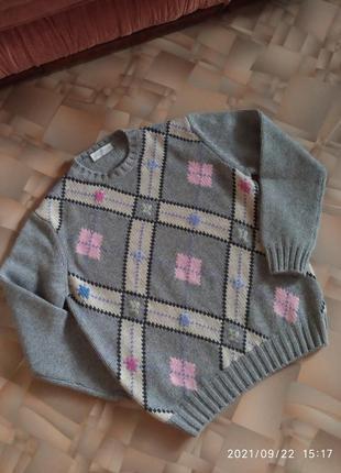 Нежный мягкий теплый кашемировый свитер италия.
