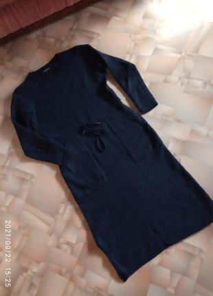 Тёплое мягкое шерстяное платье 👗 с карманами от massimo dutti.