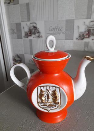 Заварочный чайник,  заварник,  фарфор