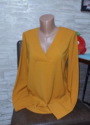 Шикарная блуза,горчица в идеале!!!