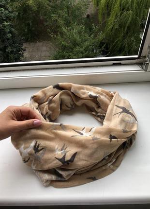 Базовый хомут снуд шарф шарфик нюдовый