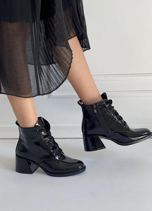 Шикарные натуральные лаковые ботиночки