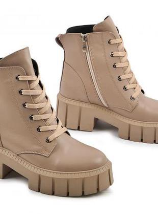 Шикарні шкіряні черевики берці
