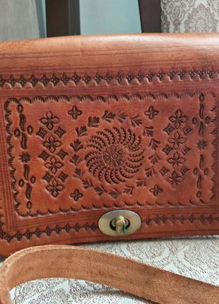 Кожаная сумка из марокко