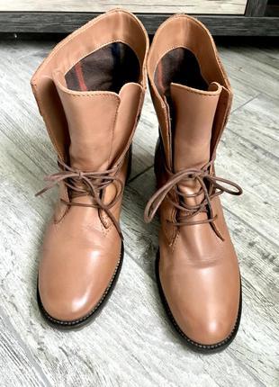 Обалденные кожаные ботинки бренда tamaris