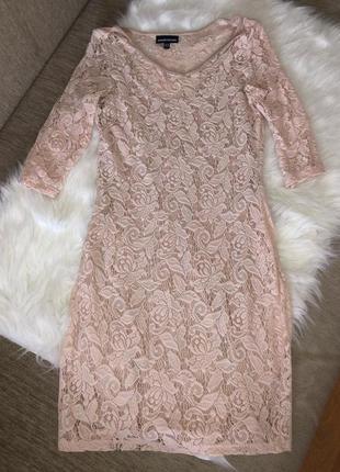 Платье warehouse очень красивого пудового оттенка♥️