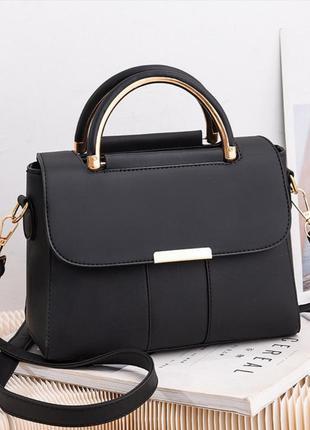 Классическая женская сумочка с круглыми ручками