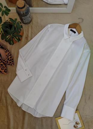 Шикарная белая рубашка блуза autograph
