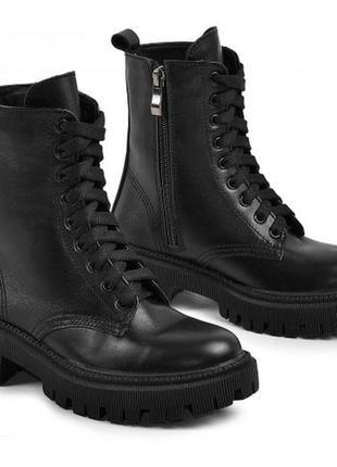 Шкіряні черевики берці