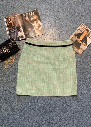 Твидовая женская юбка мини фирменная m&s