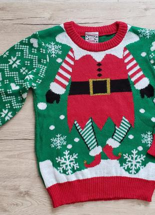 Новогодний свитшот свитер реглан кофта батник 'помощник санты' с америки
