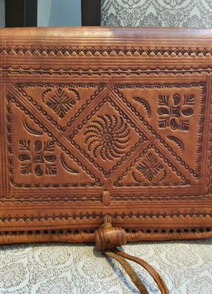 Новая кожаная сумка из марокко