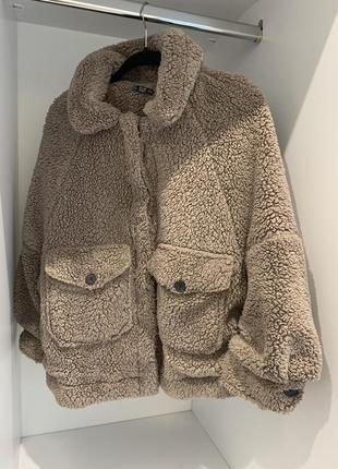 Шубка, эко шуба из искусственного меха тедди, курточка teddy dilvin
