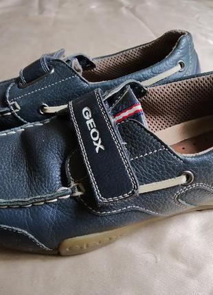 Туфли мужские мальчиковые кожаные geox мокасины кроссовки раз 38