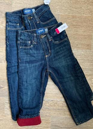 Джинсы и а флисе, теплые джинсы
