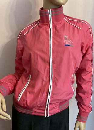 Двусторонняя розовая курточка ветровка /s/ brend lk&jns