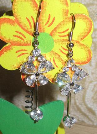 Красивейшие серьги с кристаллами - идеально к празднику!