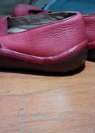 Удобные мягкие туфли мокасины clarks кожа 100 %