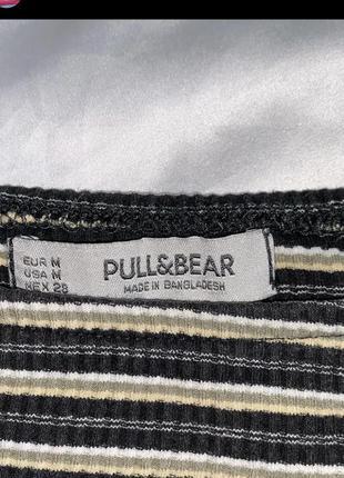 Топ с рукавами полосатый pull&bear