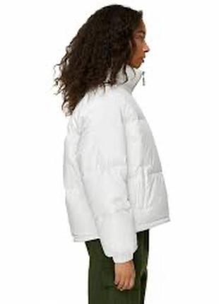 Куртка белая осеняя автоледи с укороченым рукавом