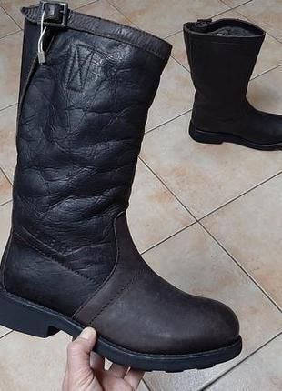 Кожаные зимние сапоги,ботинки bikkembergs (биккембергс) vintage