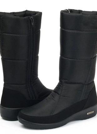 Сапоги дутики женские зимние  1245807505 до -30° из болоньи progres на молнии с мехом цвет черный