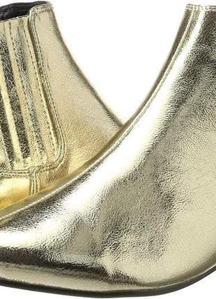 🌹🌹🌹стильные женские золотые ботинки, ботильоны 40 размер bianco🌹🌹🌹