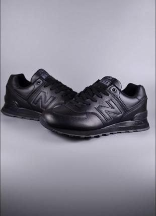 Мужские кроссовки new balance 574 full black