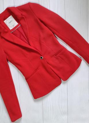 Коралловый пиджак reserved 34 размер xs,s