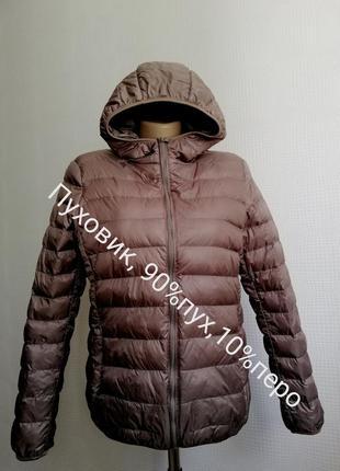 Куртка пуховик с капюшоном и натуральным пухом пух 90%, перо 10%, р. m, s куртка пуховик с капюшоно