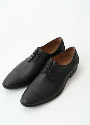 Мужские классические кожаные черные туфли vm-4466-03
