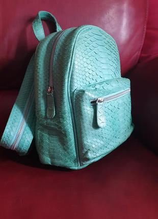 Рюкзак сумка партфель кожа кожаный питон