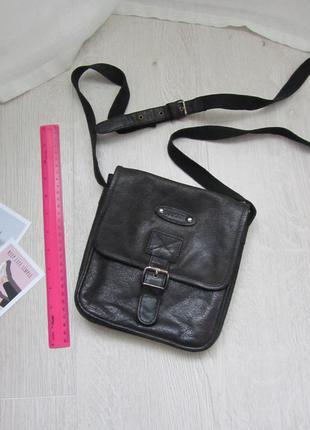 Кожаная сумка унисекс через плечо