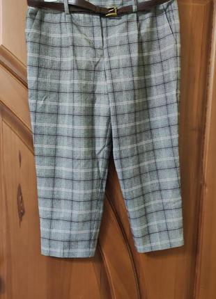 Женские теплые брюки штаны укороченные р. 50