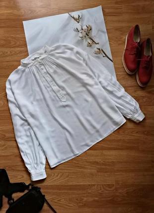 Женская белая нарядная брендовая блуза оверсайз h&m - размер 50-52