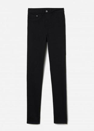 H&m новве чернве джинсы с необработанным нижним краем джинси штани брюки