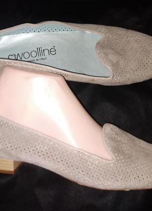 39р-26 см кожа туфли мягкие woolline made in italy
